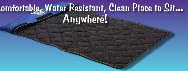 Portable, Water Resistant, Clean Place to Sit, Anywhere!