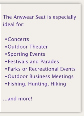 concert, outdoor theater, sporting events, festivals, parades, parks, recreational events, outdoors, fishing, hunting, hiking